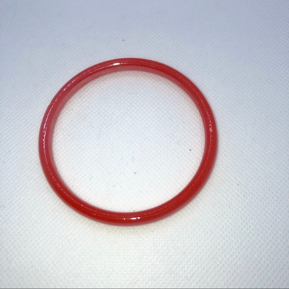 Rebecca Elizabeth Jewelry - Burnt Orange Glass Bangle Bracelet